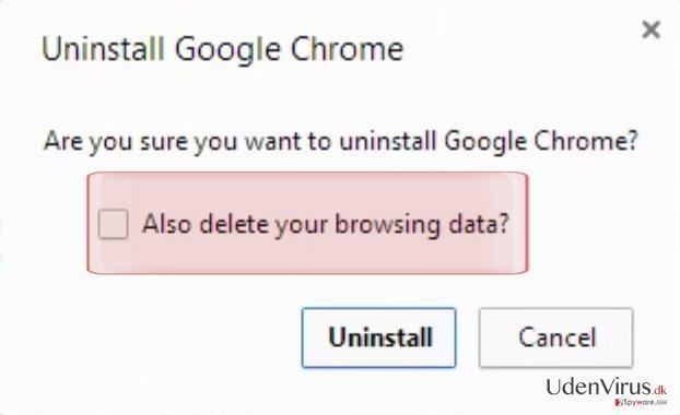 """""""Slet også dine browserdata"""""""