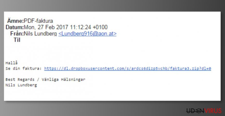 Mail spam targeting A1 Telekom users