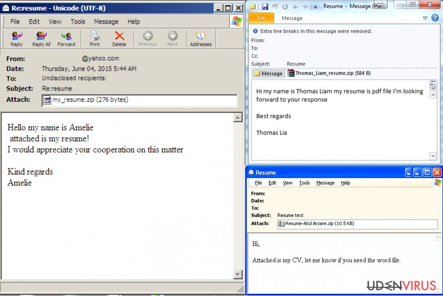 Hvordan identificeres en e-mail inficeret med en virus? snapshot