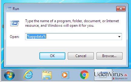 Og skriv %appdata% her