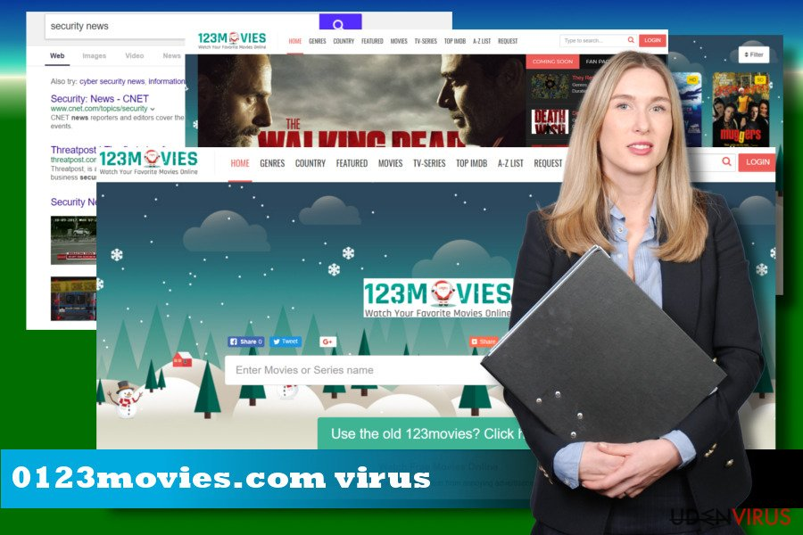 Illustrerer 0123movies.com browser hijacker
