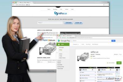 Billedet af Adfoc.us virus