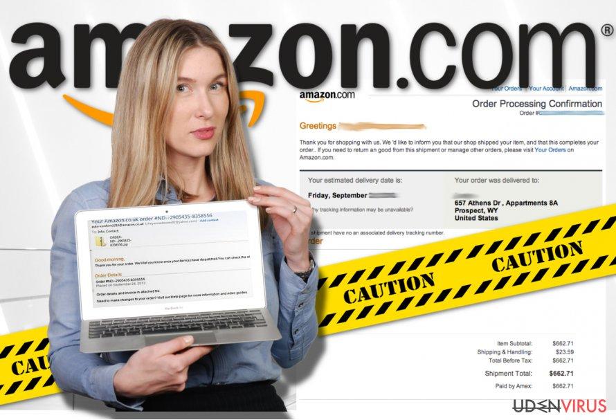 Billedet viser Amazon virus