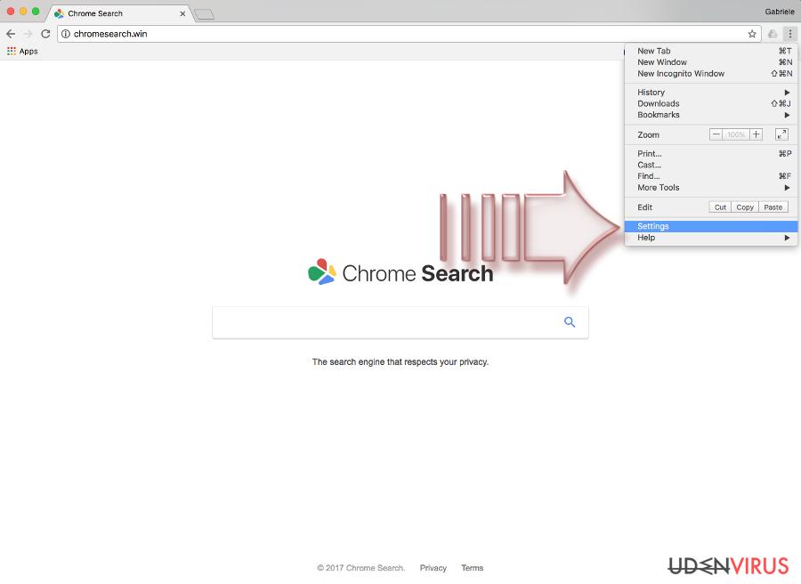 Chromesearch.win virus snapshot