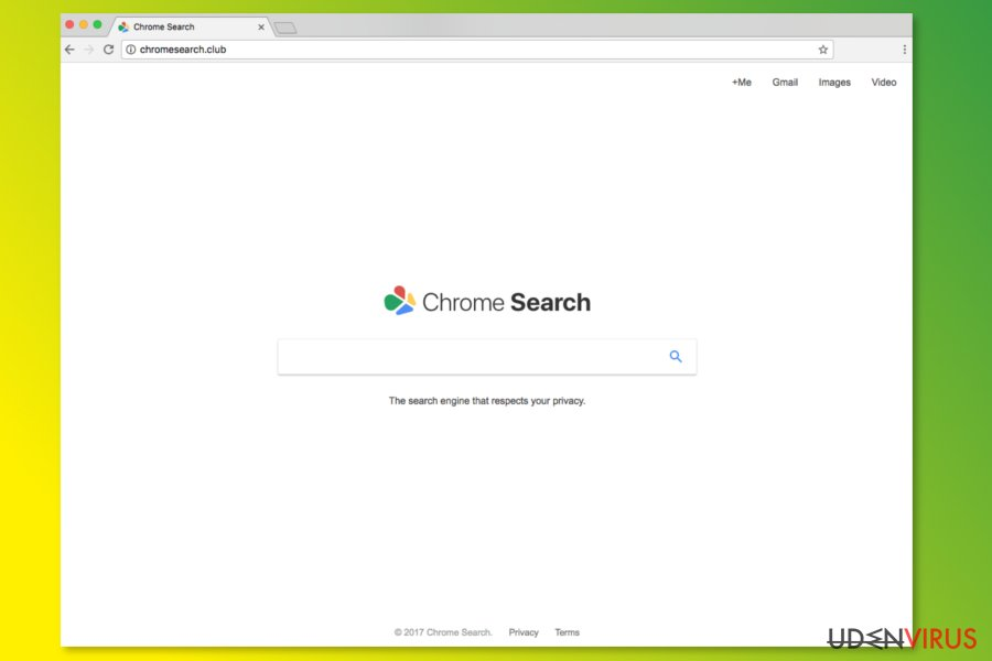 ChromeSearch.club hjemmesiden