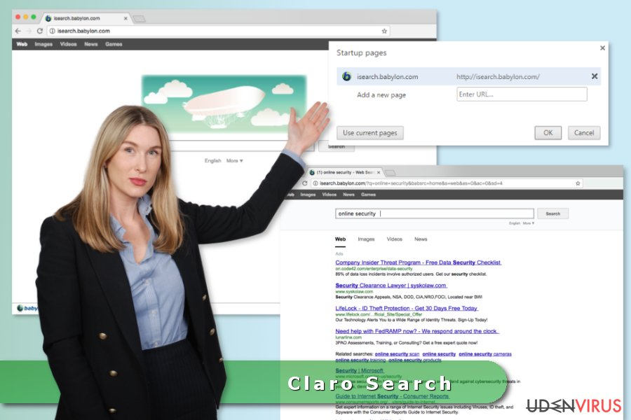 Claro Search Virus snapshot