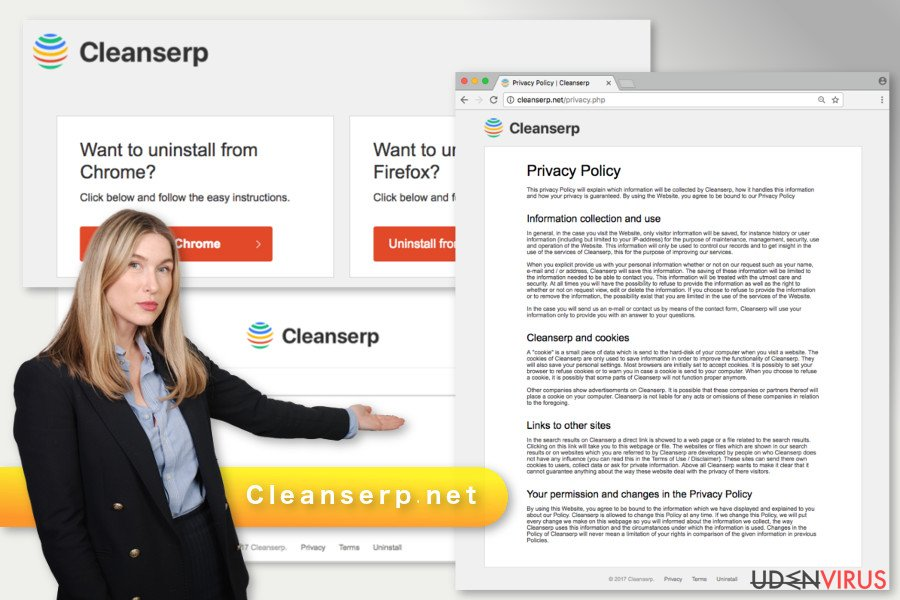 Illustrationen af Cleanserp.net virus