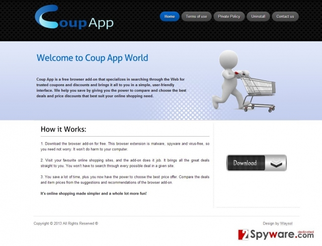Coup App annoncer snapshot