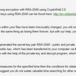 CryptoWall 2.0 virus snapshot