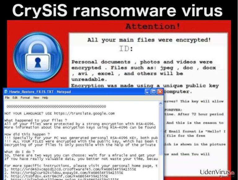 CrySiS ransomware virus snapshot