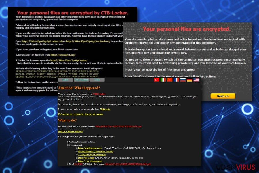 CTB Locker virus snapshot