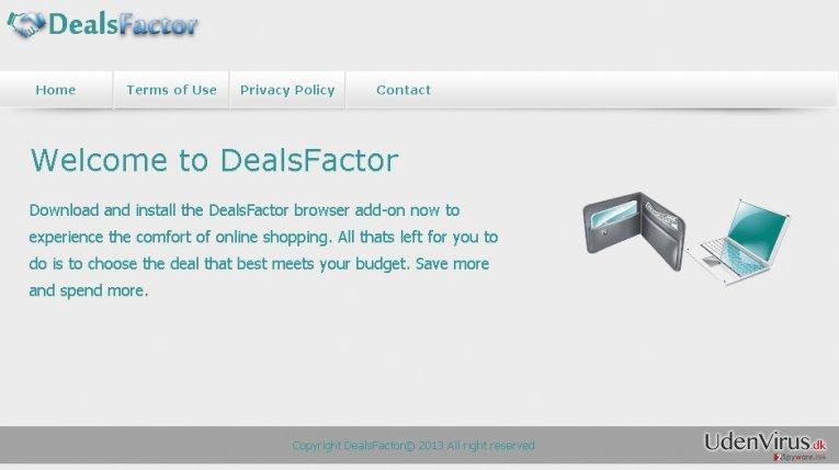 DealsFactor virus snapshot