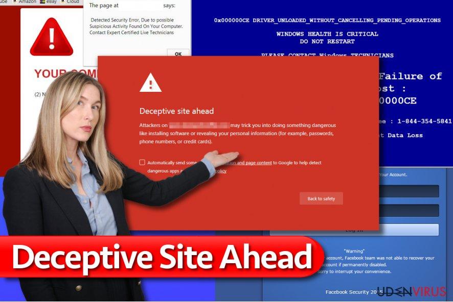 Deceptive Site Ahead meddelelse