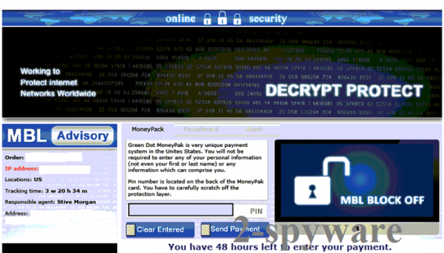 Decrypt Protect virus snapshot