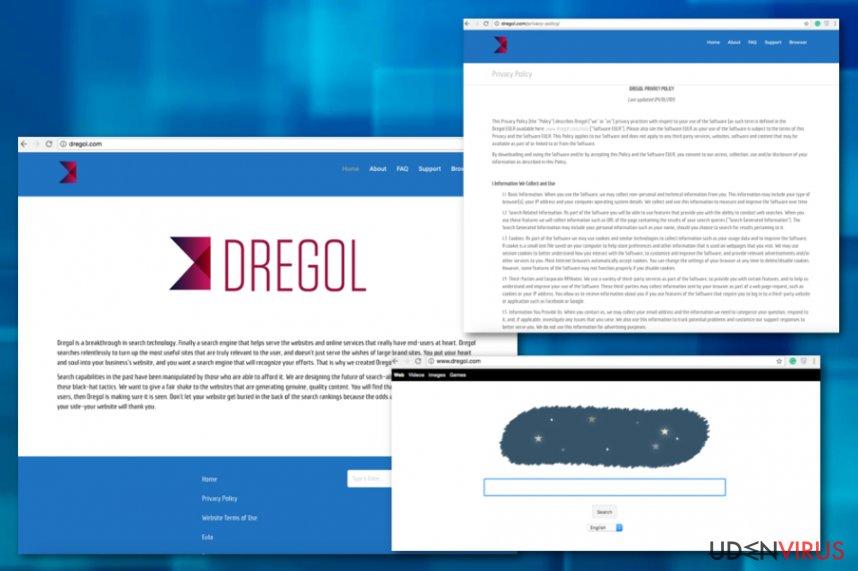 Dregol.com omdirigering snapshot