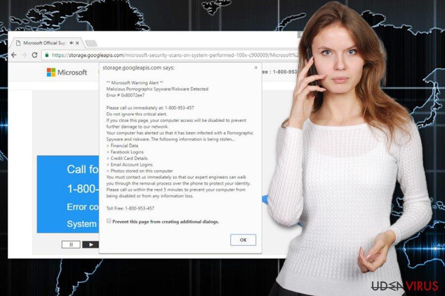 """Billedet af """"Error 0x80072ee7"""" virus"""