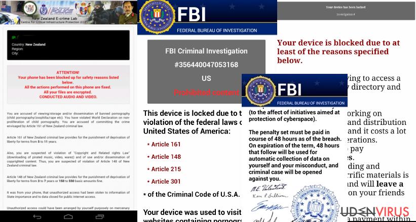 Eksempler på Android virus