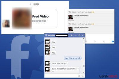 Eksempler på Facebook Message virus