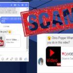 Facebook Message virus snapshot