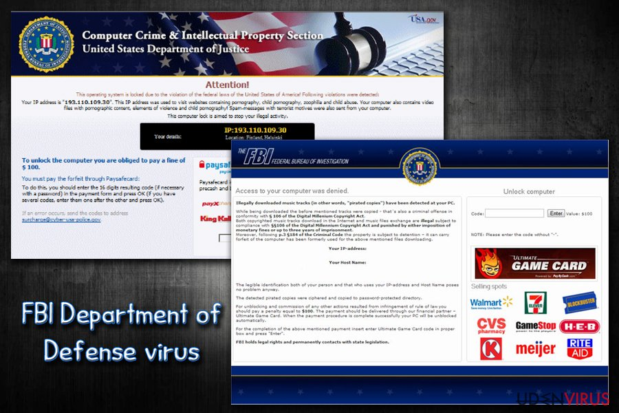 FBI virus snapshot