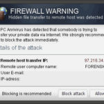"""Firewall Warning"" Pop op snapshot"
