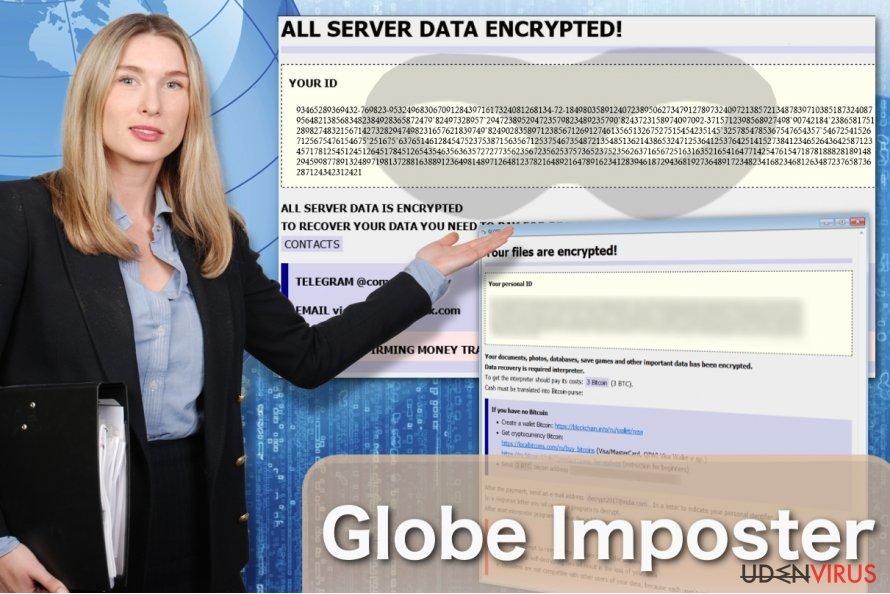 Billede af Globe Imposter-virussen