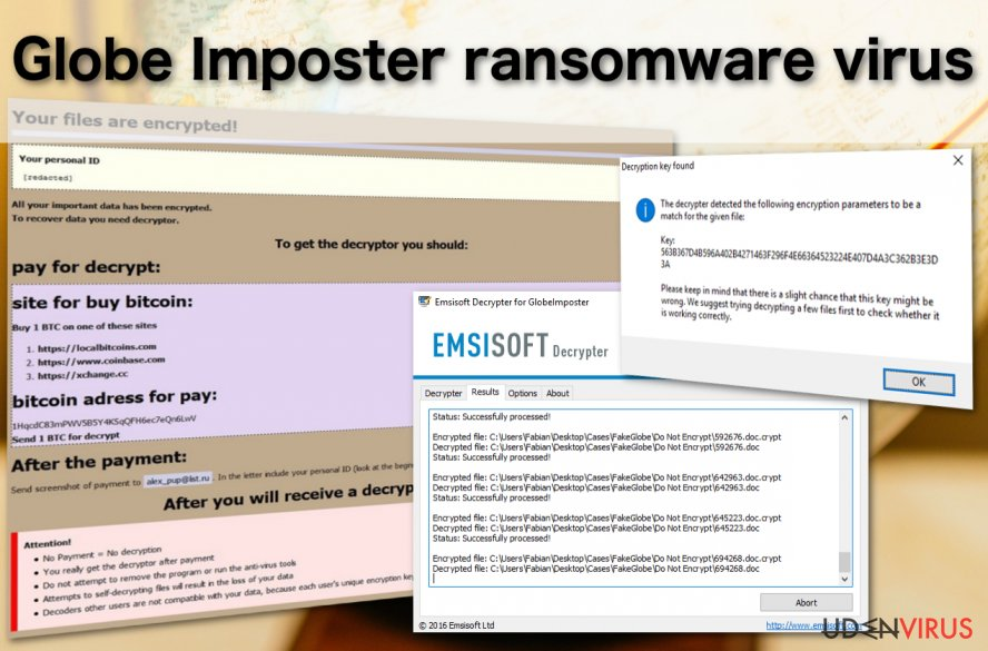 Globe Imposter virus
