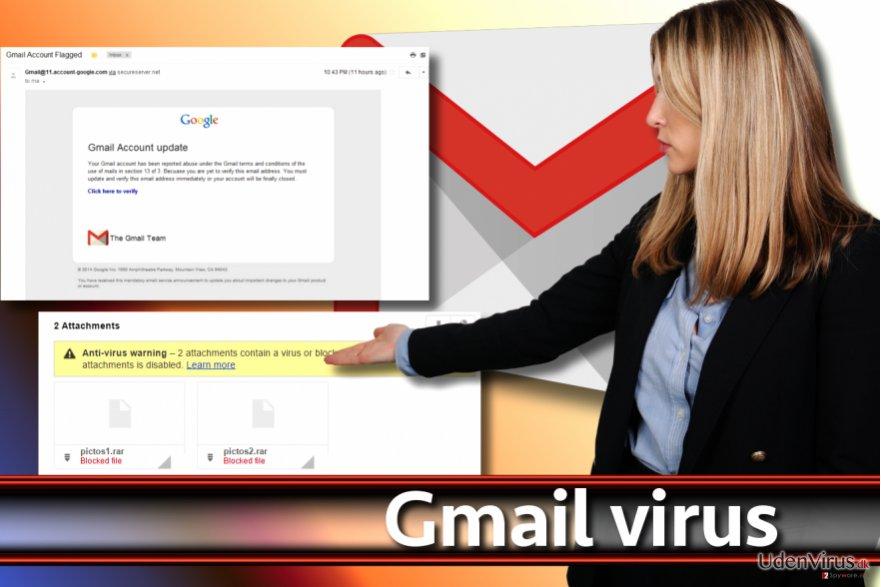 Gmail-virus skærmbillede