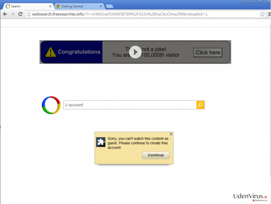 An Example of Google Redirect virus