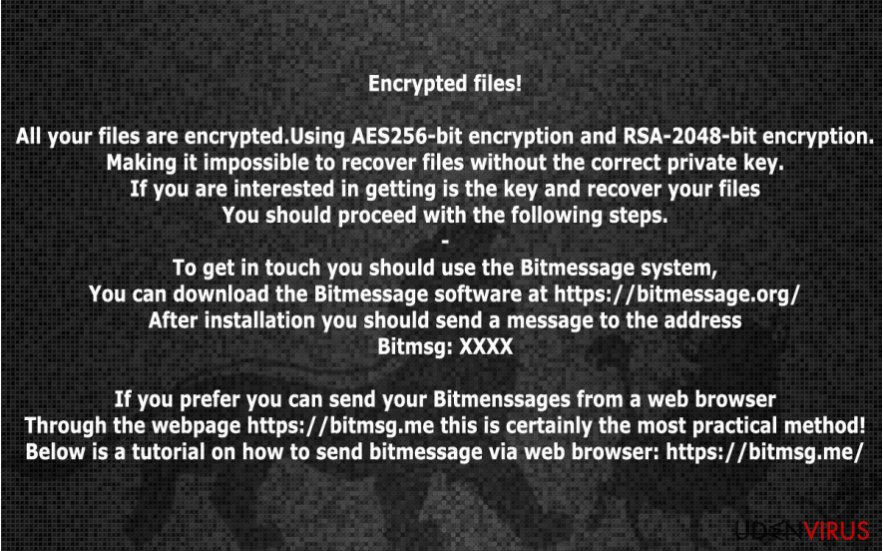 Billedet af HakunaMatata ransomware virus