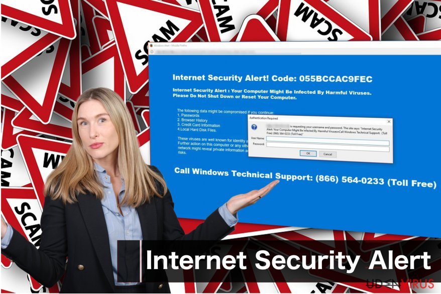"""Internet Security Alert"" svindelbesked"