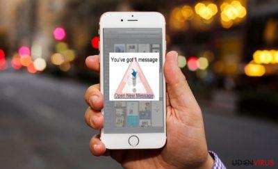 Billedet viser iOS-virus