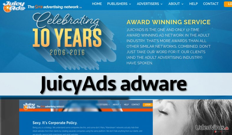 Website of JuicyAds adware
