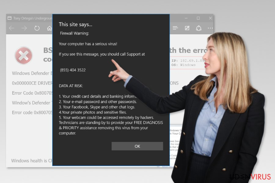 Microsoft Edge understøtter svindel virus