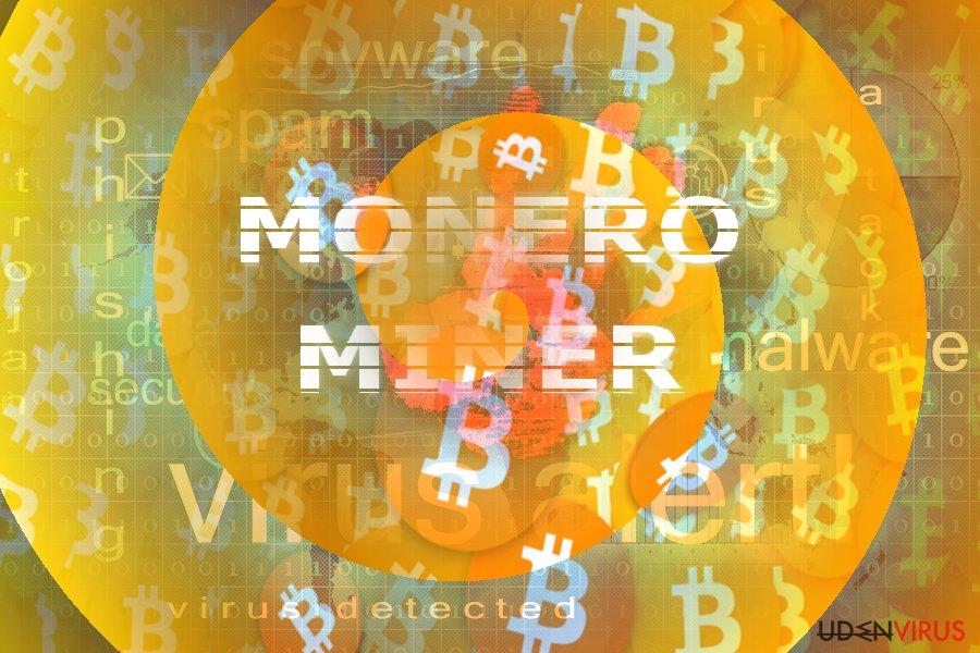 Billedet illustrerer Monero Miner konceptet