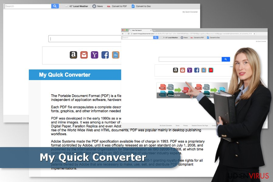 Illustrationen af My Quick Converter virus