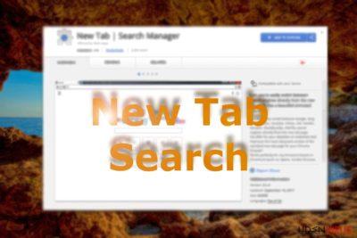 Billedet viser New Tab Search i Chrome webshop