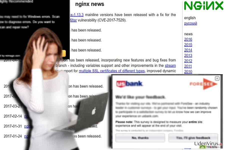 Prøven af den tilknyttede hjemmeside - nginx.org