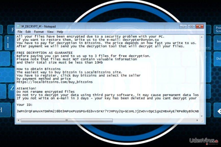 OnyonLock ransomware noten