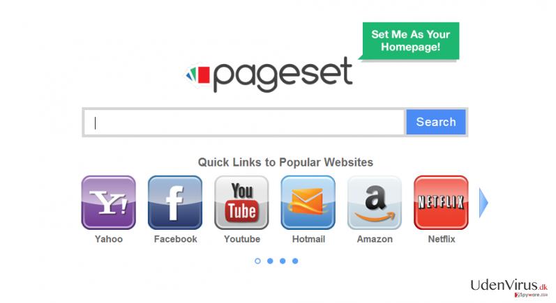 Pageset.com virus snapshot