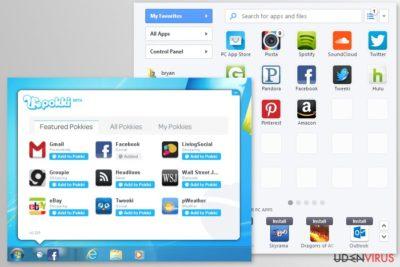 Pokki app skærmbilleder