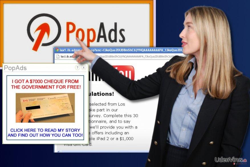 PopAds reklamer