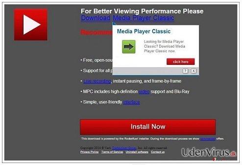 PremiumPlayerUpdates.com pop-up virus snapshot