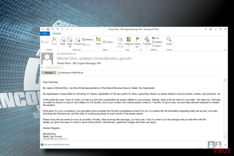 Rapid ransomware spredes via spam