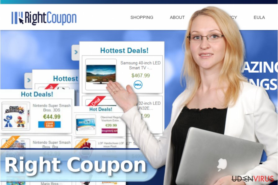 Right Coupon pop-up annoncer snapshot