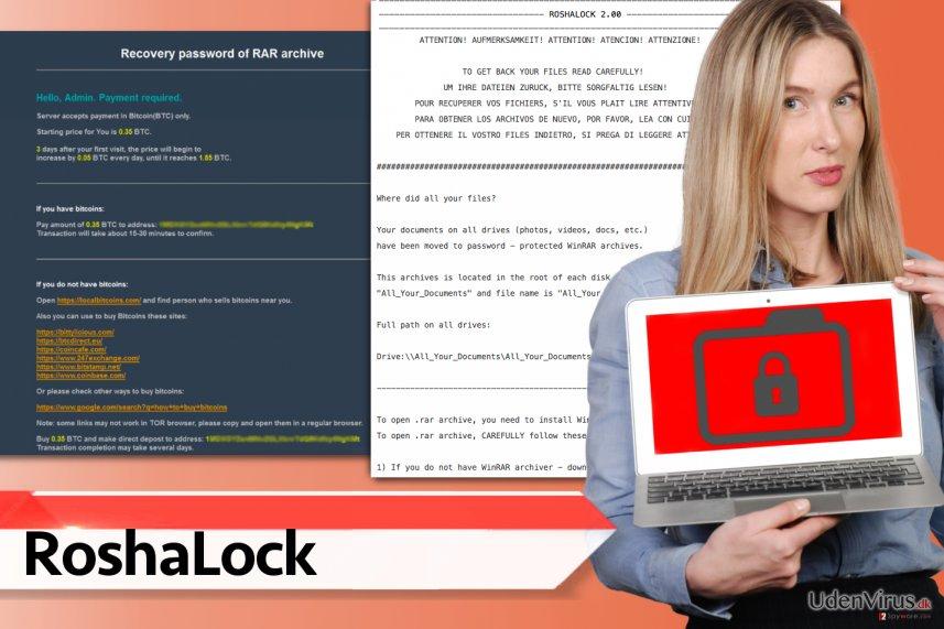 RoshaLock ransomware virus