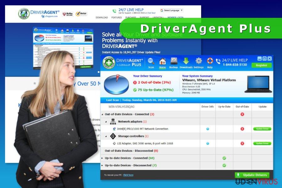 Skærmbilledet af DriverAgent Plus