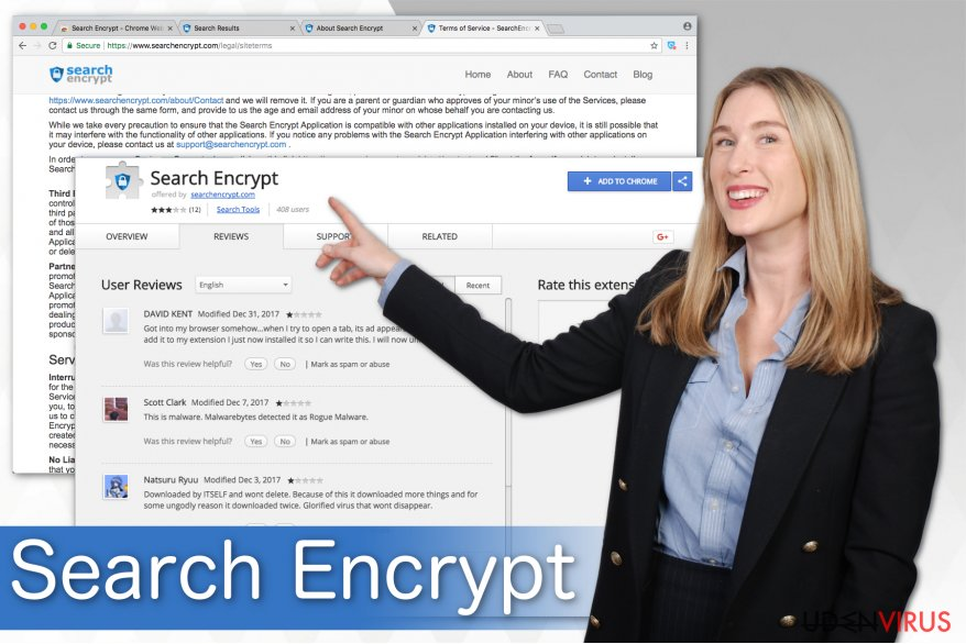 Search Encrypt illustration