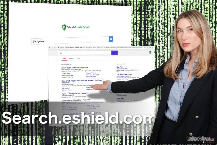 Search.eshield.com omdirigering snapshot