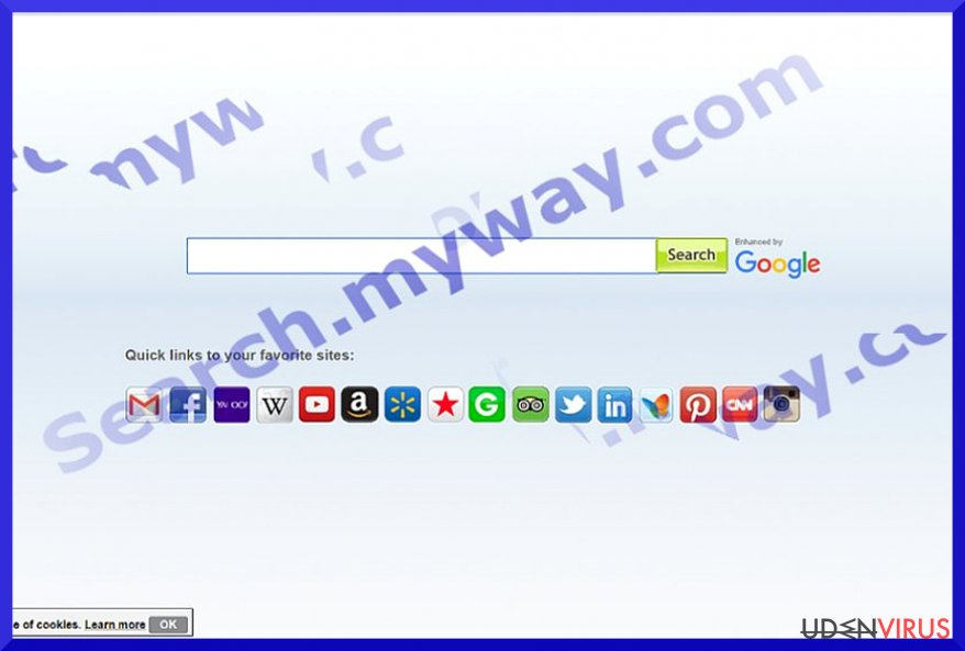 Search.myway.com virus snapshot